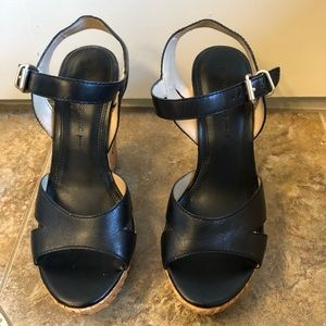 Banana Republic leather wedge sandals